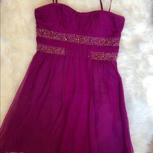 Fuschia party dress